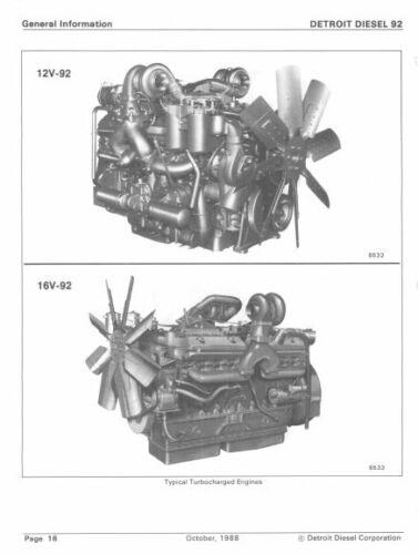 6,8,12,16 Cylinder Service Manual Workshop CD Detroit Diesel V-92 Series