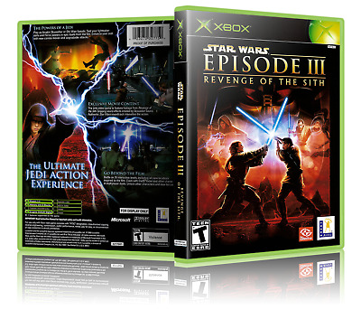 Star Wars Episode Iii 3 Revenge Of The Sith Replacement Xbox Cover No Game Ebay