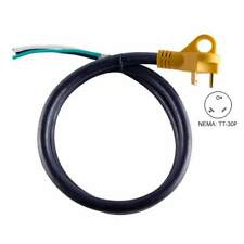 """camping 25 Feet 30 Amp RV Cord with 6/"""" Loose End Plug /& Handle for Moterhome"""
