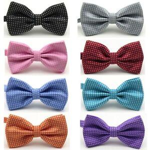 Men-039-s-Fashion-Tuxedo-Classic-Polka-Dots-Adjustable-Wedding-Party-Bowtie-Bow-Tie