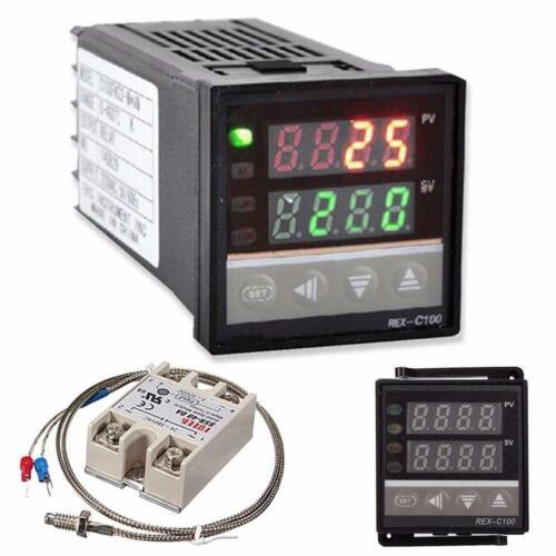 K termocupla se adapta a 0-400 ℃ RT100 40A SSR REX-C100 Controlador De Temperatura Pid