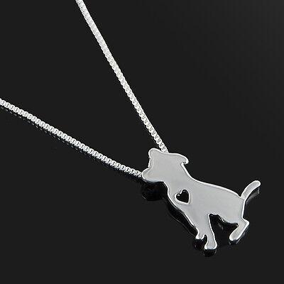 Silver/Gold Dog Puppy Bulldog Dachshund Shepherd Charm Pendant Necklace Gift
