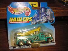RARE 1999 Hot Wheels Haulers Custom Hot Rod Movable Heavy Duty Crane Truck Green