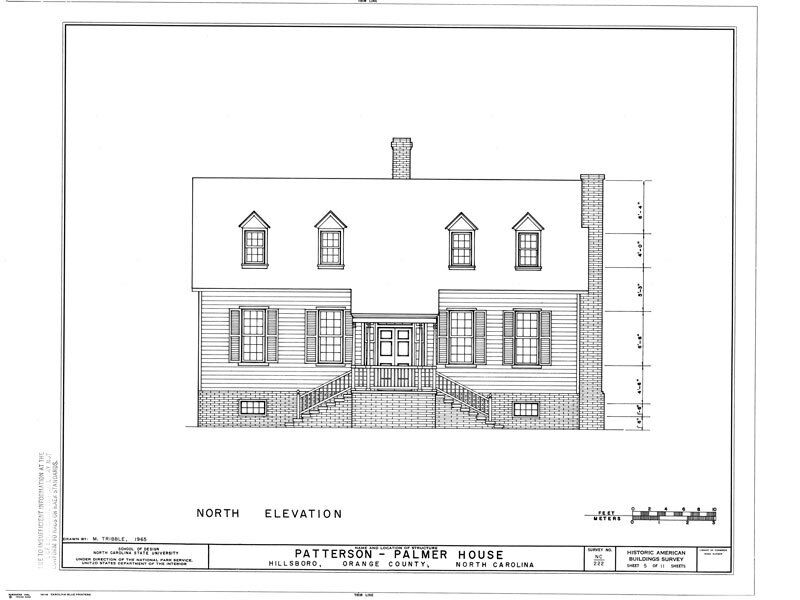 Historic Colonial Wood Home Plans, traditional North Carolina country house