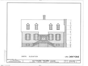 Historic Colonial Wood Home Plans, traditional North Carolina ...