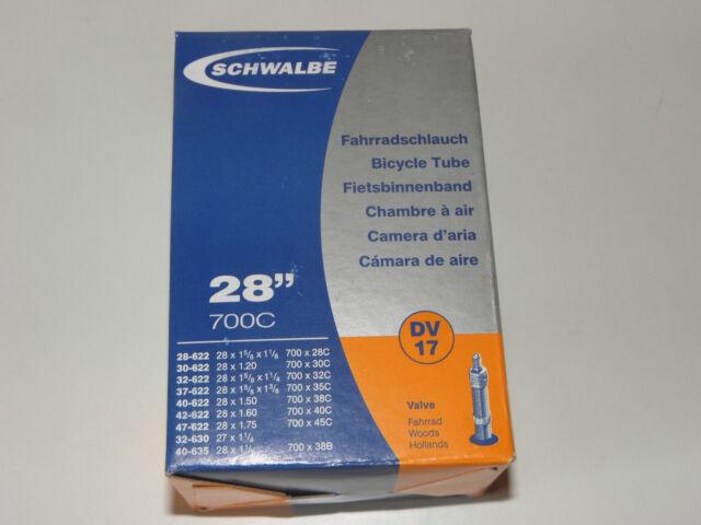 17 28 Zoll Fahrrad-Schlauch 700C Schwalbe Nr AV DV SV 40//50//60mm