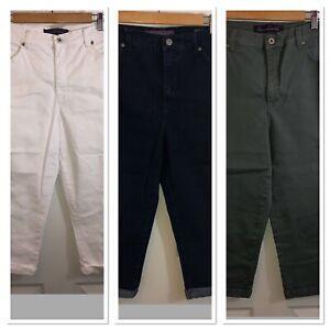 GLORIA-VANDERBILT-Womens-Amanda-Stretch-cotton-Capri-Pants-Sz-10-Lot-of-3