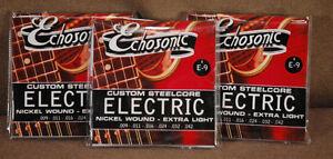 Echosonic Electric Guitar Strings .009 - .042 Nickel wound 3 Sets