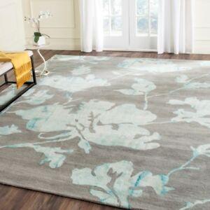 Grey Turquoise Safavieh Dip Dye Wool Modern Area Rugs Ddy716l Ebay