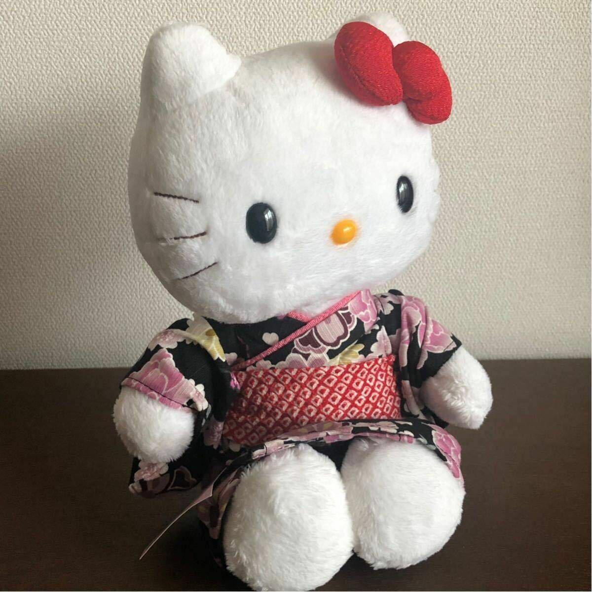 Hello Kitty Kyoto Edición Limitada Kimono Yukata schwarz con Relleno Juguetes 2005