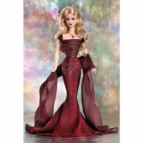 BIRTHSTONE COLLECTION January Garnet COLLECTOR EDITION Barbie Doll