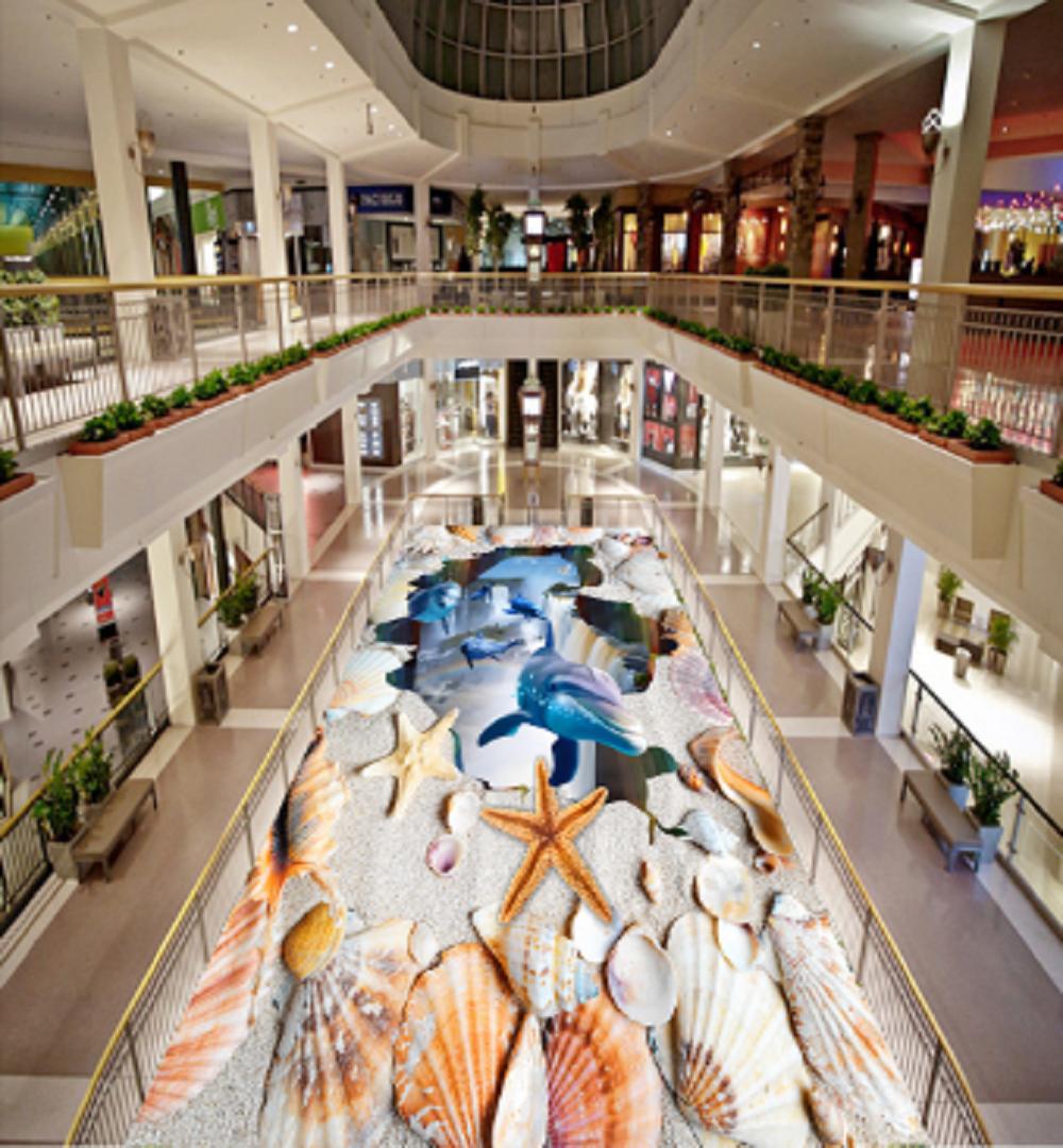 3D Shells Dolphins 50 Floor WallPaper Murals Wall Print 5D AJ WALLPAPER UK Lemon