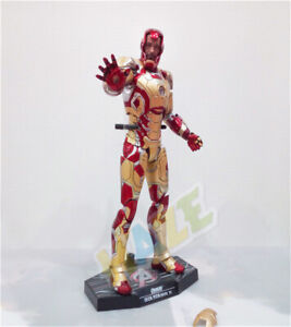 HC-Iron-Man-Diecast-Mark-MK42-with-LED-Light-Action-Figure-1-6th-Model-Toy