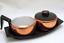 Mid-Century-Sugar-Creamer-Set-Aluminum-and-Copper-Color-Vintage-Kitsch thumbnail 1