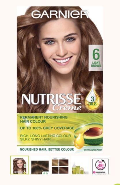 Garnier Nutrisse Creme dauerhafte Haarfarbe (verschiedene) NEU Pack 4 Öle