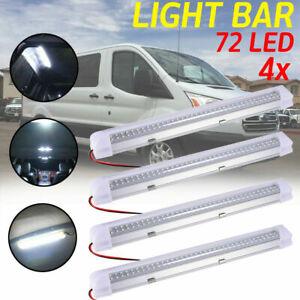 4X 72LED Interior Light Strip Bar ON//OFF Switch 12V 12 VOLT Car Van Bus Caravan