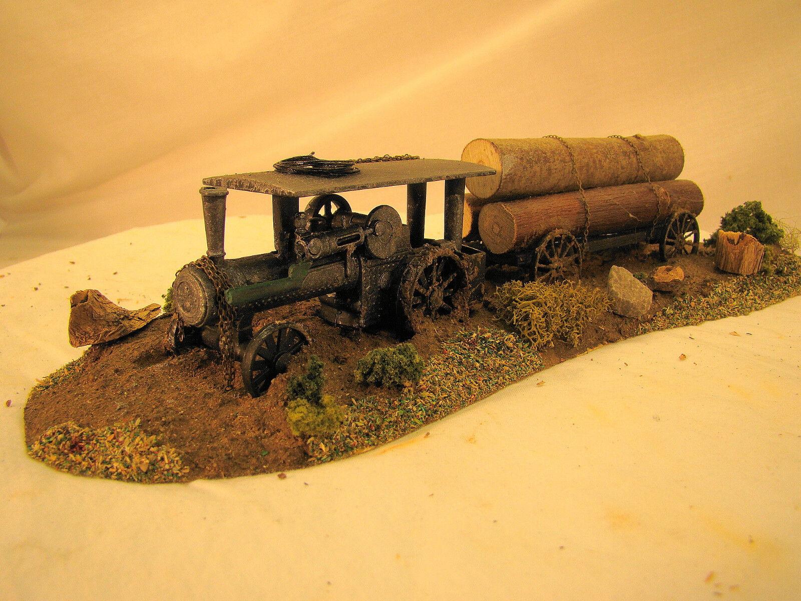 Vapore Trattore Boscaioli Diorama - su Misura Esposto Alle Intemperie - On30