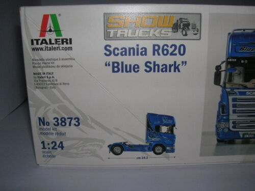 Italeri Scania R620 Blue Shark Blauer Hai LKW Truck 1:24 Bausatz Model Kit 3873
