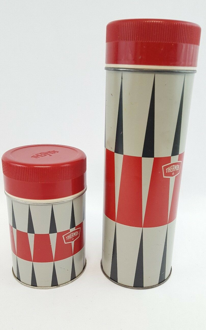 Vintage 1970 King Seeley 10 oz (environ 283.49 g) Taille Métal Thermos Quart Taille