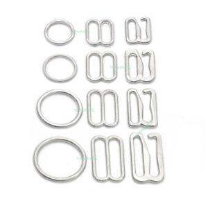 "50 White 1//2/"" RINGS Bra Lingerie Sewing Supplies Adjusters Slides Sliders Hooks"