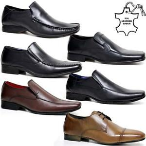 Image Is Loading Mens Leather Shoes New Slip On Italian Smart
