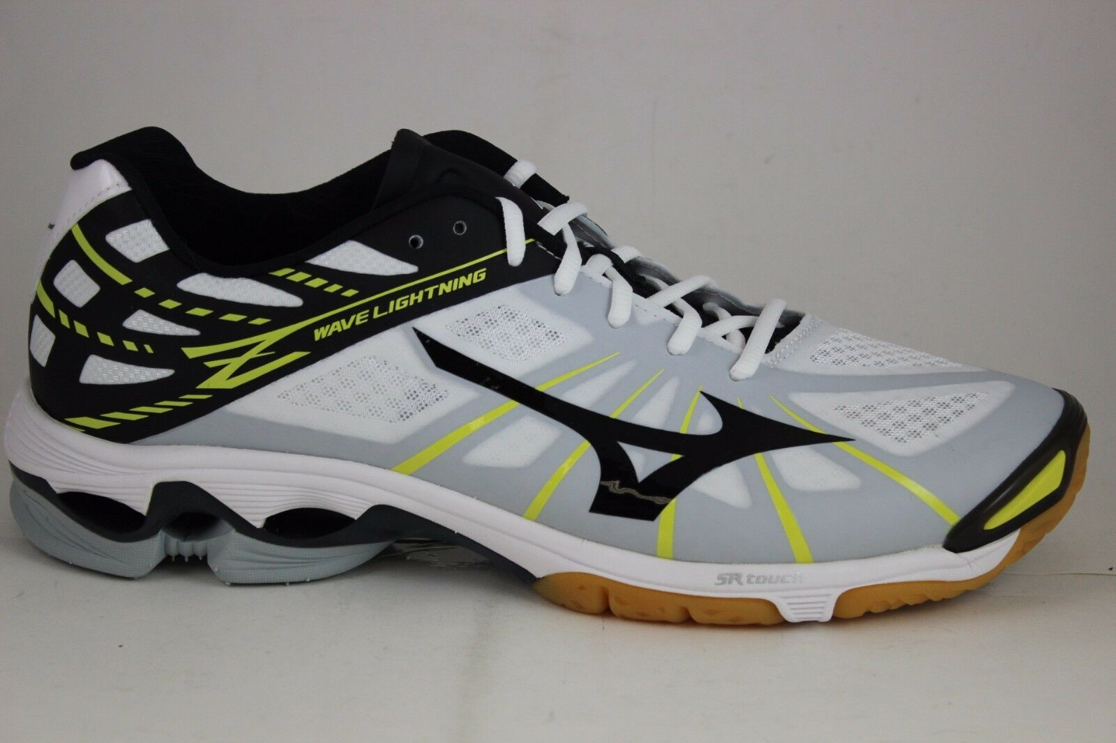 hommes Mizuno Wave Lightning Z blanc/ noir /Yellow 430187.0090 Brand New in Box