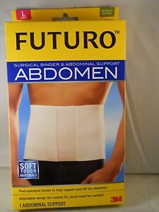 3M-Futuro-Abdomen-Surgical-Binder-Abdominal-Support-LARGE-IN-WHITE-AUTHENTIC