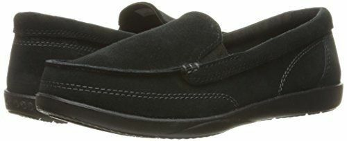 NEW Crocs Walu II Suede Loafer Womens US 10 BLACK Boat shoes W10