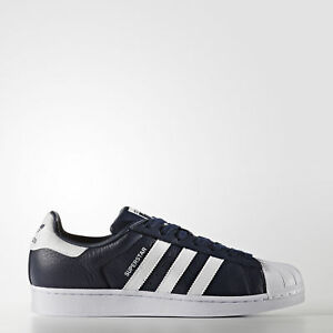 'New adidas Originals Superstar Foundation Shoes BB2239 Men's Blue Sneakers' from the web at 'https://i.ebayimg.com/images/g/BrUAAOSwyYFaC13F/s-l300.jpg'