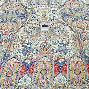 Ivory Ornamental Satin Back Crepe Border Dress Fabric 150cm Wide M145-73 Mtex
