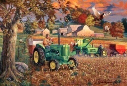 "Charles Freitag Bumper Crop John Deere Pheasant  Print 17/"" x 11/"""