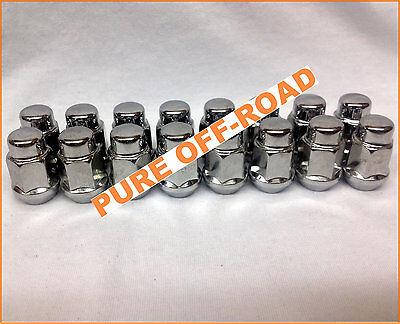 Kawasaki Teryx 12125 12x1.25 Black Lug Nuts 12mm x 1.25 w//Socket Set of 16