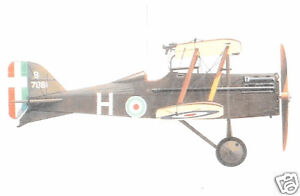 "Model Airplane Plans (FF): SE-5 1/8 Scale 40"" Biplane Fighter (WW-I) for 1-1.5cc"