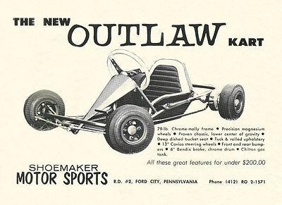 Vintage 1965 Shoemaker Outlaw Go-Kart Ad | eBay