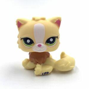 Authentic Lps Cat Lps Toys Pet Shop Cat Yellow Persian Girl S Present Ebay