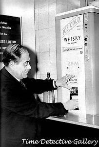 man at vintage whiskey vending machine vintage photo print ebay
