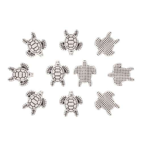 20pcs Antique Silver Turtle Charms Pendant Tortoise for Bracelet Jewelry Making