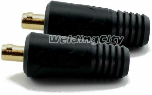 Weldingcity 2-Pk Welding Cable Twist-Lock Insulated Male Connector Dinse Type 1//