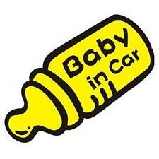 Autocollant stiker Bébé à bord (Baby in car) en forme de biberon réf stiker 500