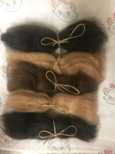 Premium Quality Angora Mohair 1oz Bundle Blonde Dark Brown /& Brown Reborn