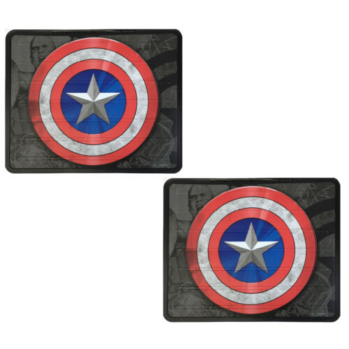 Rear Back Rubber Floor Mats New Set Captain America Civil War Car Truck Front