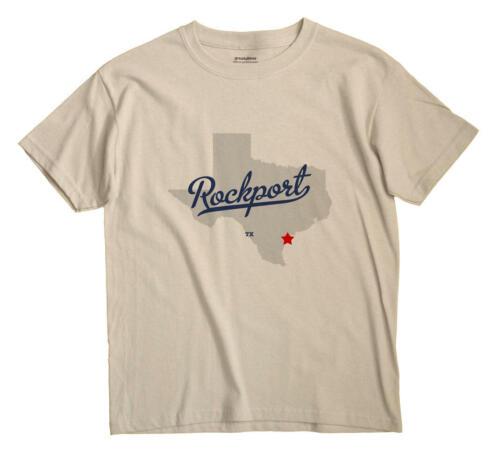 Rockport Texas TX T-Shirt Souvenir MAP