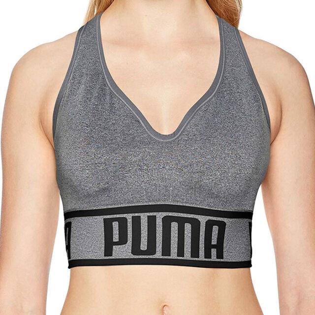 38afc14178 PUMA Womens Seamless Sports Bra in Heather Grey Size L # PF1722250-030