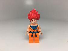 Custom Lego Super Sayan RED Hair God Goku Minifigure Figure collectible NEW