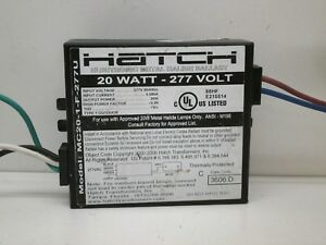 Hatch MC20-1-J-UNNU 120//277 Volt 20 Watt Electronic Metal Halide Ballast
