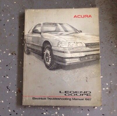 1987 Acura Legend Coupe Electrical Troubleshooting Wiring ...