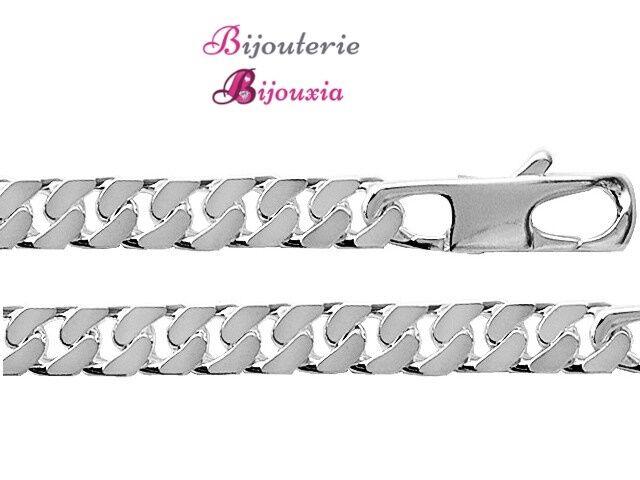 Braccialetto Grande A catena 22CM argentoo Massiccio 925 925 925 1000 Rodio 66a9ed