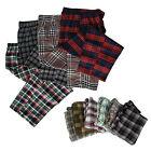 4 Pack: Adult Mens Plaid Cotton Pajama Bottoms Pants Sleepwear Assorted - Large