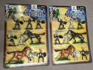2-Pack-Toy-Company-Dragon-Knights-Ritter-Kunststoff-Figuren-mit-Pferden-Ovp