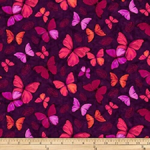Viva Terra Butterfly Studio e Berry 100/% cotton fabric by the 1//4 yard